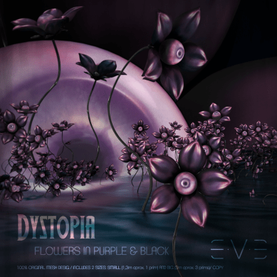 E.V.E DYSTOPIA Flower Eye Purple and Black (V)