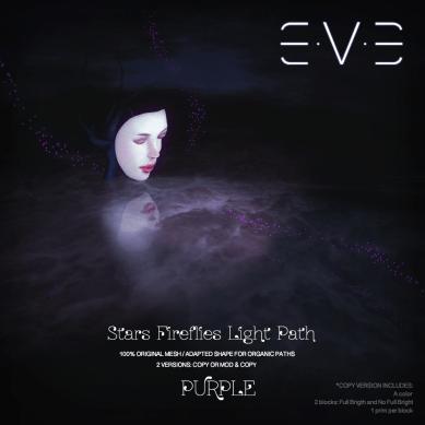 E.V.E (V) Stars Fireflies lights path PURPLE