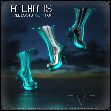 E.V.E (V) ATLANTIS Ankle Boots Aqua Pack