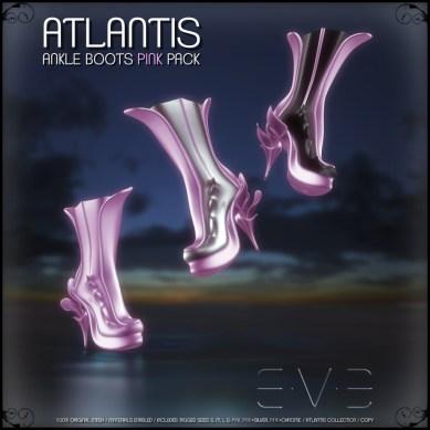 E.V.E (V) ATLANTIS Ankle Boots Pink Pack