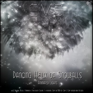 The Dancing Snowballs lights is E.V.E's second new release for the Midwinter Fair (read more in the next post)