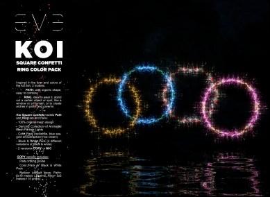 E.V.E {V} KOI Square Confetti Ring Color Pack