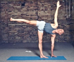 Collyn Rivers in Ardha Chandrasana