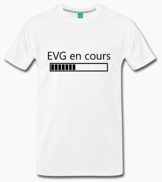 T-Shirt blanc EVG en cours