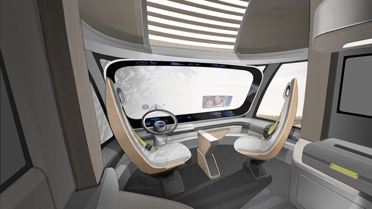 Hyundai Motor Company HDC-6 NEPTUNE Concept Class 8 Heavy Duty Truck Interior Rendering