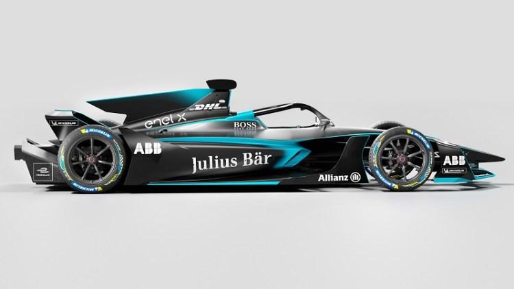 Formula E Reveals Gen 2 EVO World Championship Car full side