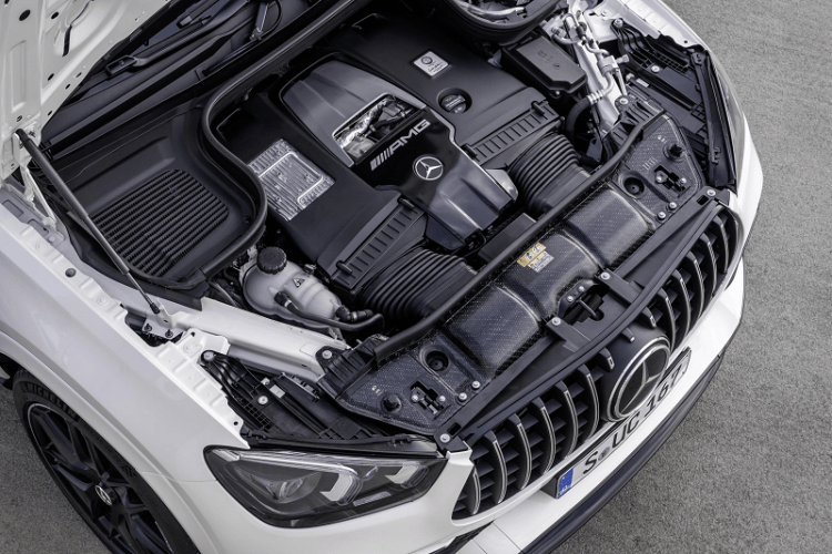 The New Elegant and Electrified Mercedes AMG GLE 63 S Coupe engine