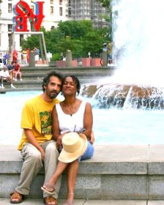 Evia & Darren at LOVE Park