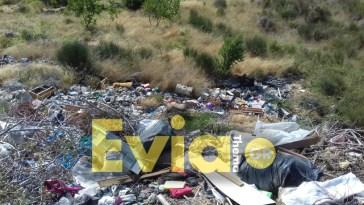 Γεμάτη σκουπίδια η είσοδος του χωριού