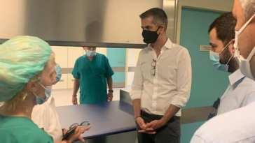 Κώστας Μπακογιάννης στο Νέο Νοσοκομείο Χαλκίδας