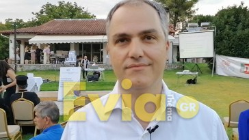 Ο Γιώργος Κελαϊδίτης στην παρουσίαση του Οδηγού Δήμου Διρφύων Μεσσαπίων