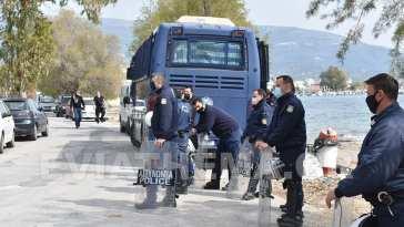 ξενοδοχειο αμαρυνθος - Ομάδα ΜΑΤ Μετανάστες