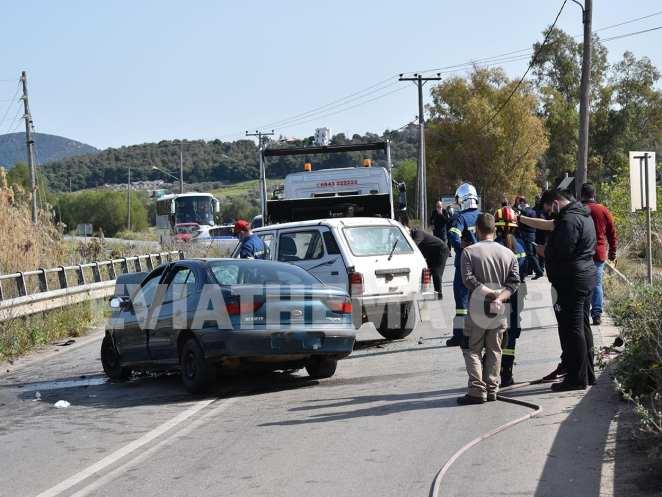 Ψαχνά Ευβοίας: Σοκαριστικό τροχαίο στον Κολοβρέχτη