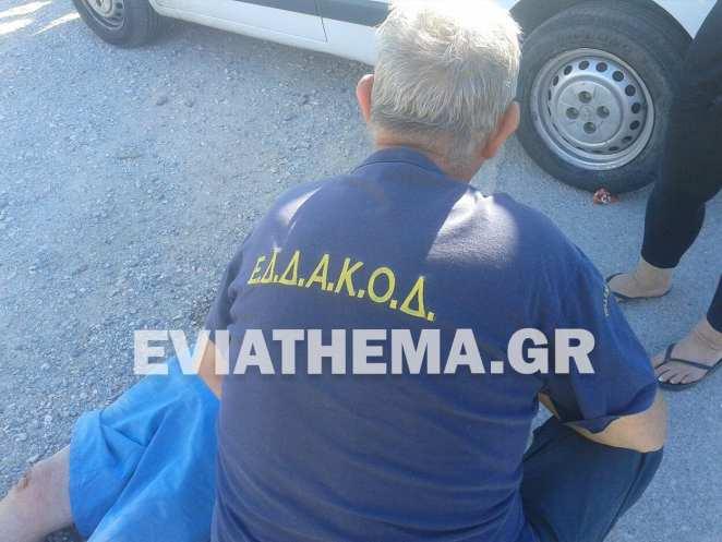 Τροχαίο στο Νεκροταφείο Ερέτριας : Τραυματισμένος ένας 72χρονος