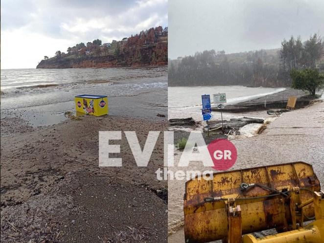 Βόρεια Εύβοια - Πλημμύρισαν σπίτια