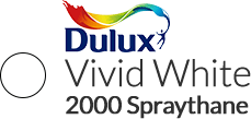 Dulux Vivid White in 2000 Spraythane