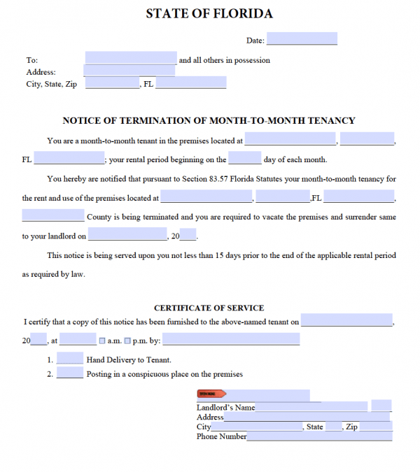 Florida-15-Day-Notice-to-Terminate-Month-to-Month-Tenancy-600x675  Day Payoff Letter Template on track debt, free debt, google spreadsheet debt, sample debt, statement request,
