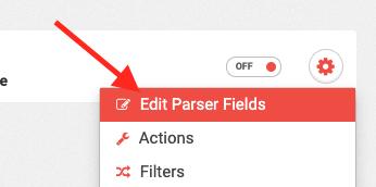 click Edit Parser Fields.