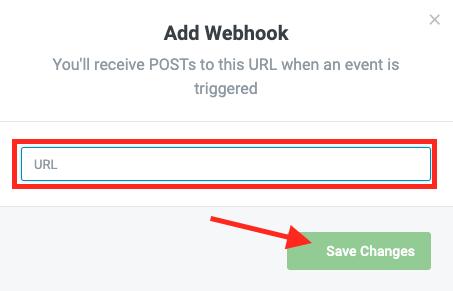 Webhook URL.