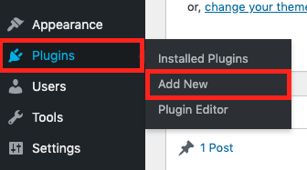 Plugins >> Add New