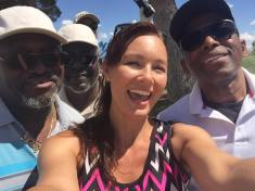 Meeting some of the Golfers