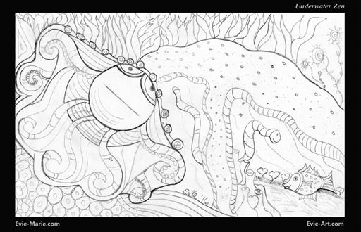 Underwater Zen - EVIE ART by Evie Marie