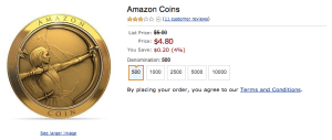 Amazon coins - more benefit for Amazon than customers
