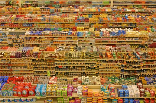 Endless supermarket aisles