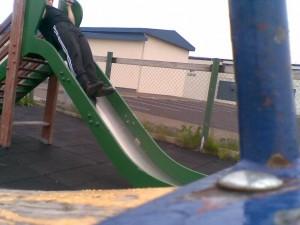 Pull-ups on a slide