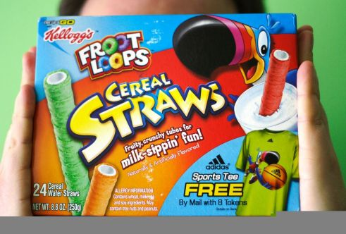 Package of Froot Loops straws