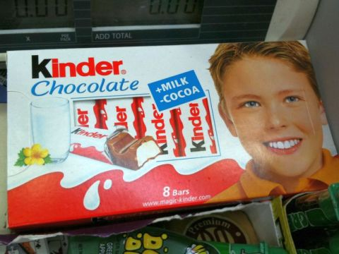 Box of Kinder chocolate