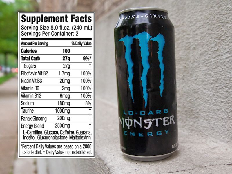 How Much Sugar Is In A Monster Energy Drink