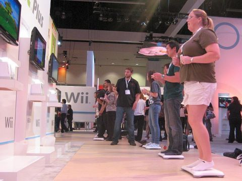 wii balance board demonstration at e3