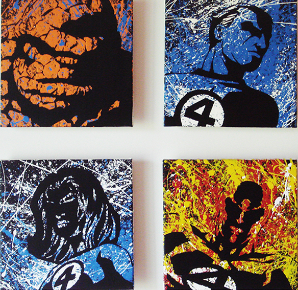 Or even the Fantastic Four for your wall!