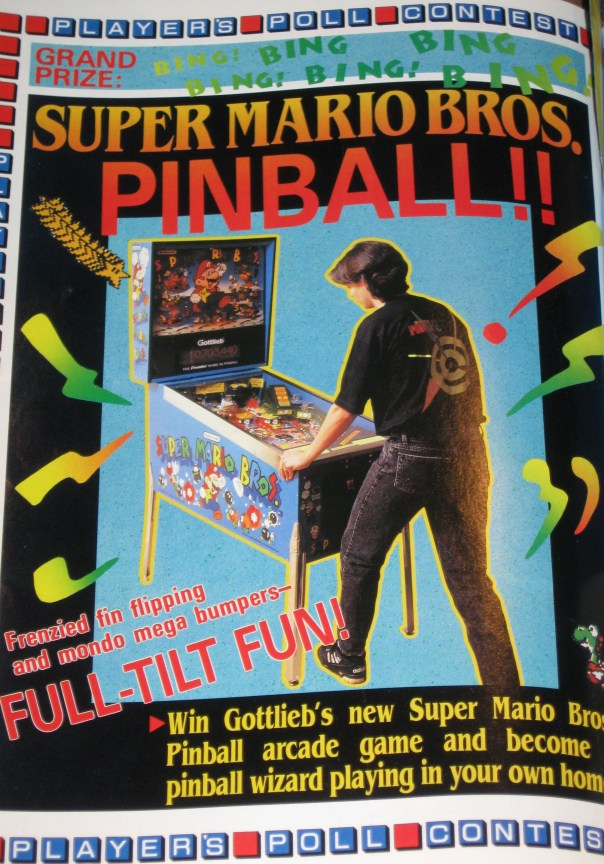 A contest where you could win a Super Mario Pinball game!  Seriously, is it too late to enter this?