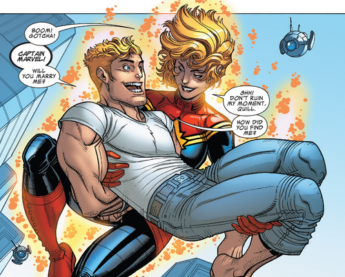 CaptainMarvelSavesPeterQuill