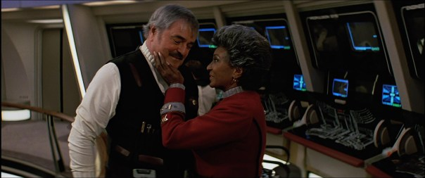 did anyone else notice Uhura flirting with Scotty throughout this movie?