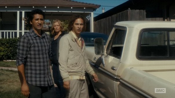 """LOS ANGELES, CA – August 30, 2015: Fear the Walking Dead Madison tries to keep Nick from withdrawal. Travis sets out to locate his son before Los Angeles falls. What did the world look like as it was transforming into the horrifying apocalypse depicted in """"The Walking Dead""""? This spin-off set in Los Angeles, following new characters as they face the beginning of the end of the world, will answer that question. Photograph:©AMC """"Disclaimer: CM does not claim any Copyright or License in the attached material. Any downloading fees charged by CM are for its services only, and do not, nor are they intended to convey to the user any Copyright or License in the material. By publishing this material, The Daily Mail expressly agrees to indemnify and to hold CM harmless from any claims, demands or causes of action arising out of or connected in any way with user's publication of the material."""""""