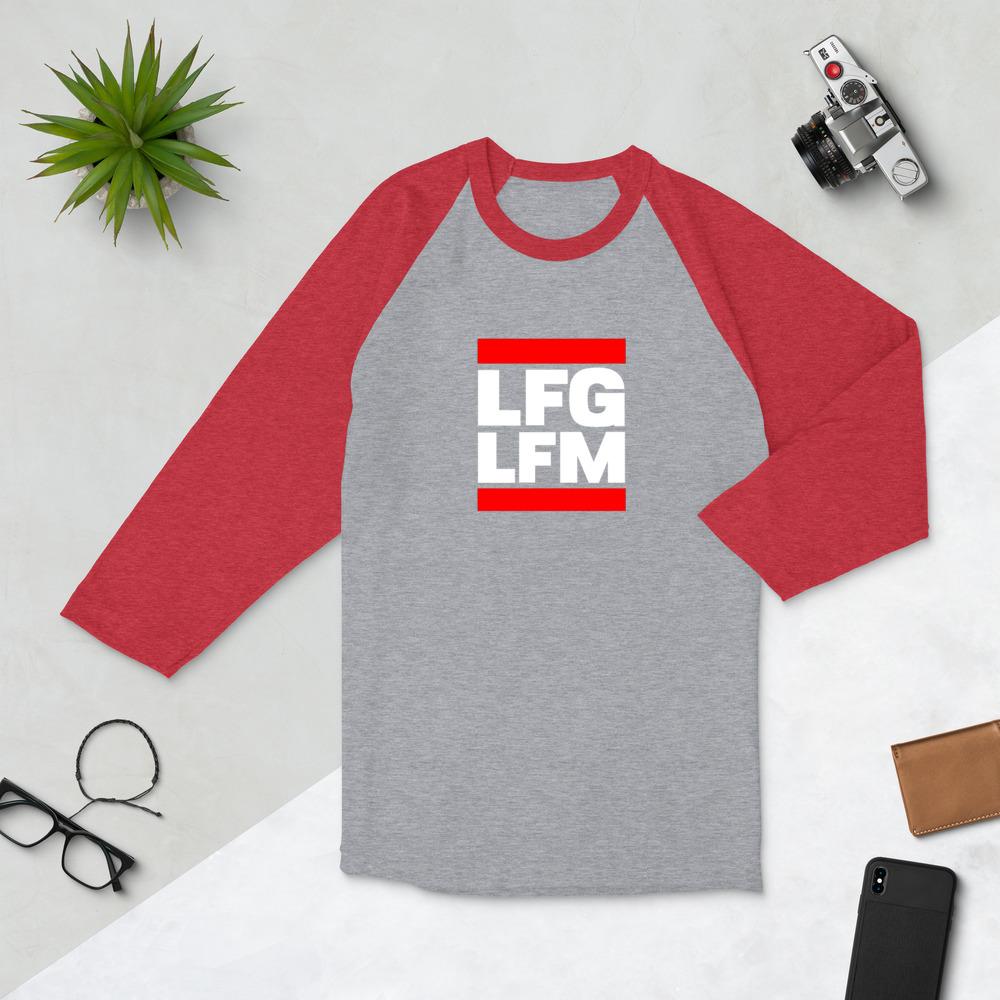 LFG / LFM <br>3/4 sleeve raglan shirt