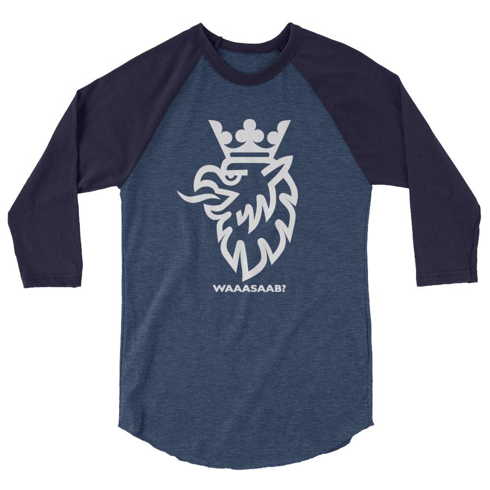 WaaaSaab? <br>3/4 sleeve raglan shirt