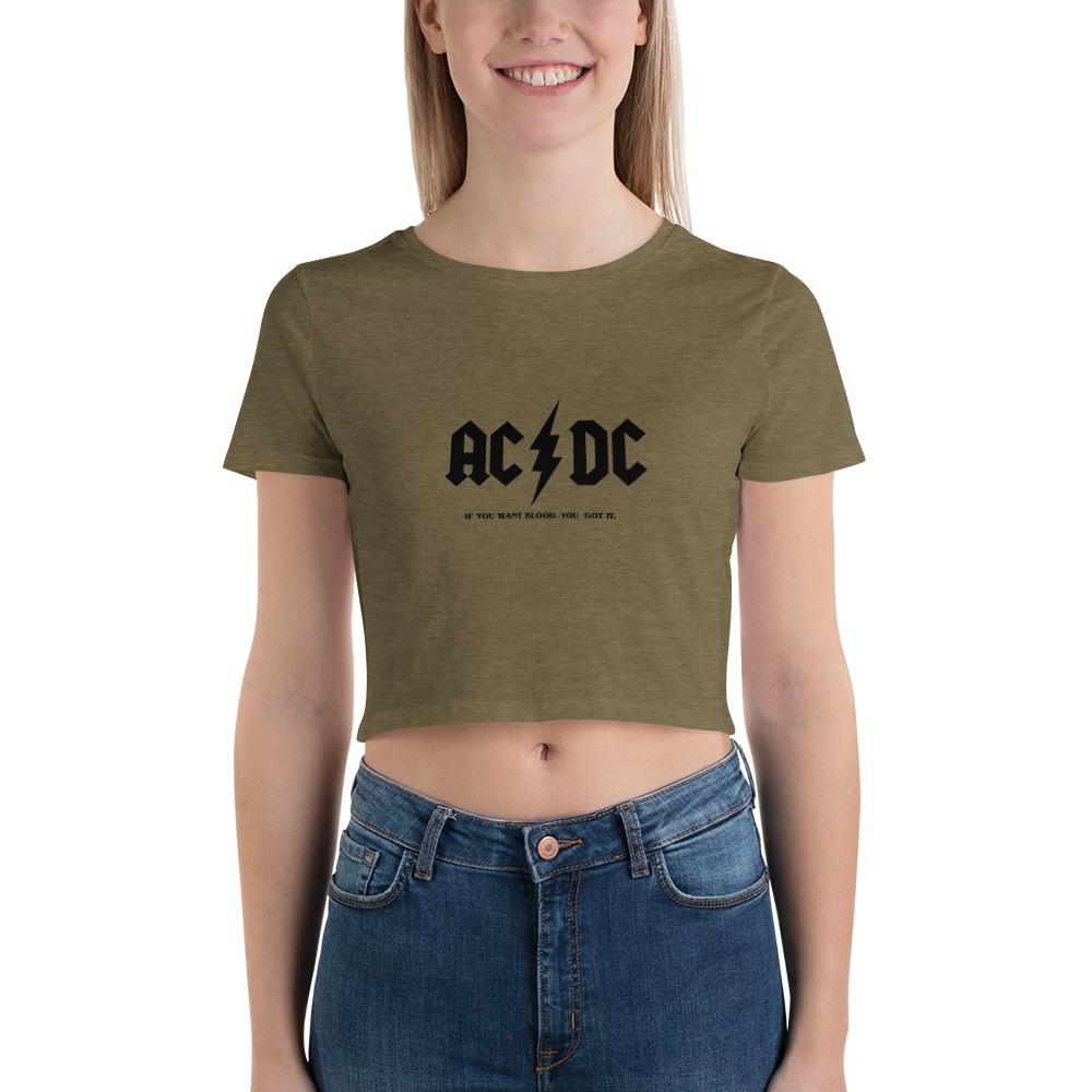 AC / DC <br>Women's Crop Tee