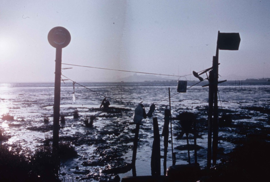 Early Sculptures at The Emeryville Mudflats. Early Mudflat Sculpture, 1965. Courtesy of The California College of Art