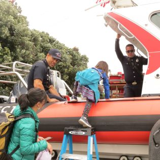 The Alameda County Fire Department rescue boat.