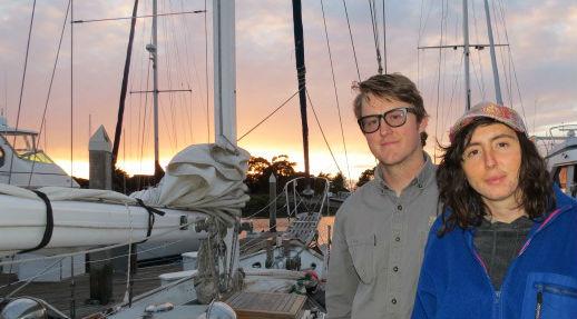Emeryville Liveaboard Profile: Emery Cove's Abe & Kelsey preparing