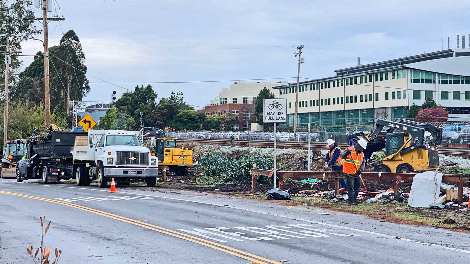 In Wake of Nady Building Demolition & Aquatic Park Clearing, Area