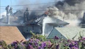6fd60dff6409 6 Injuries Reported, Three Homes Damaged following Emeryville Triangle  Neighborhood AM Fire