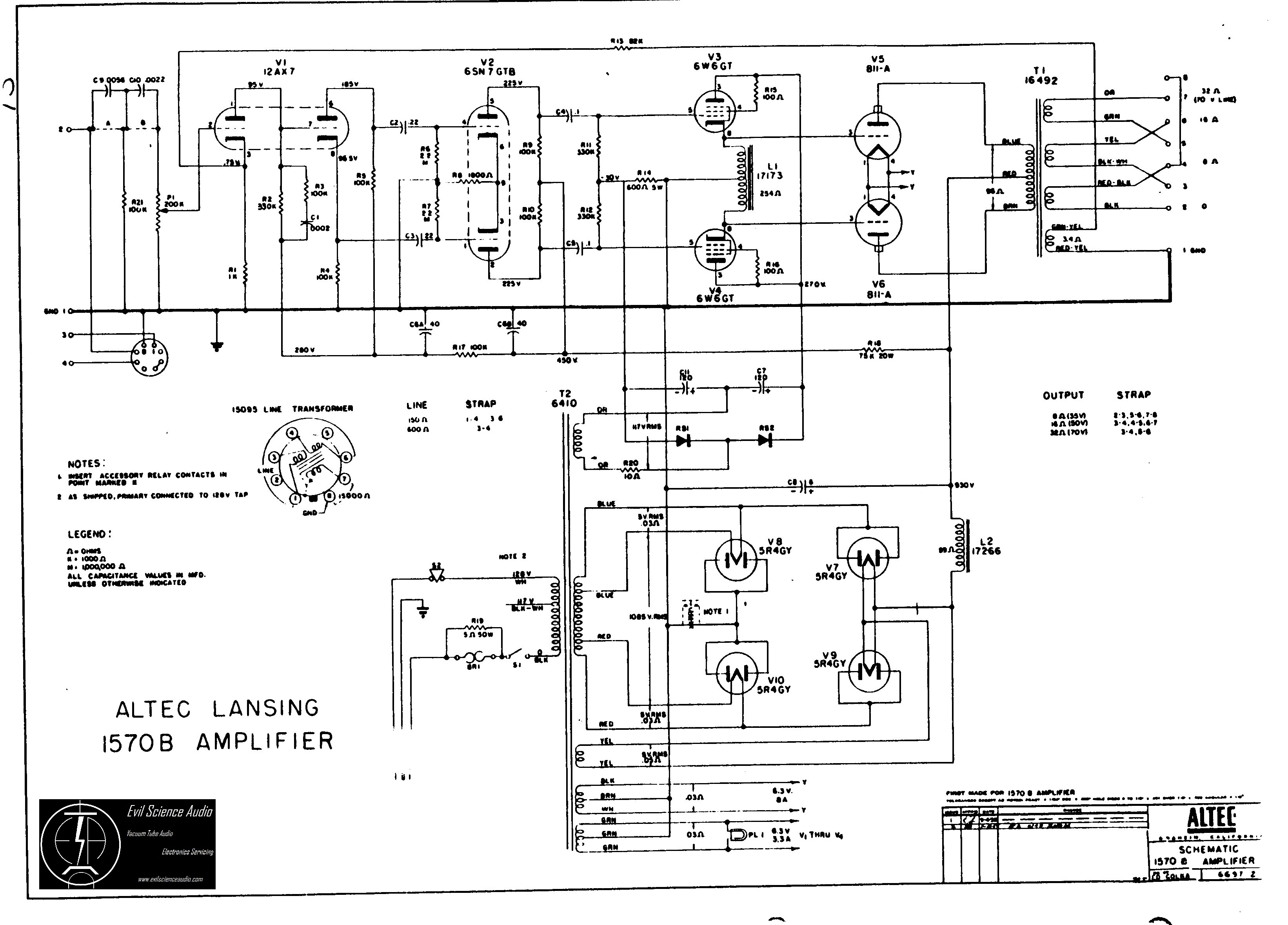 Altec Wiring Diagram - Wiring Diagrams Show on