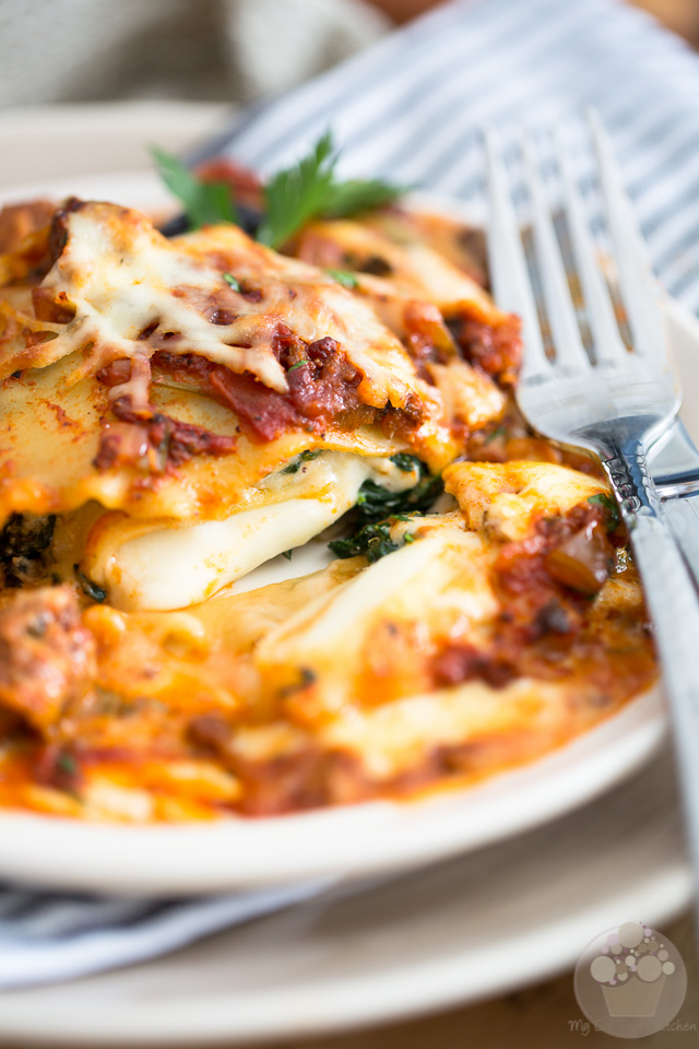 Triple Cheese Lasagna | eviltwin.kitchen