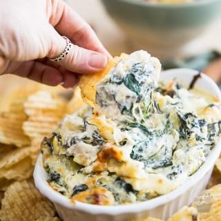 Cheesy Artichoke Spinach Dip