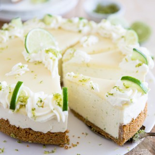 No Bake White Chocolate Lime Cheesecake